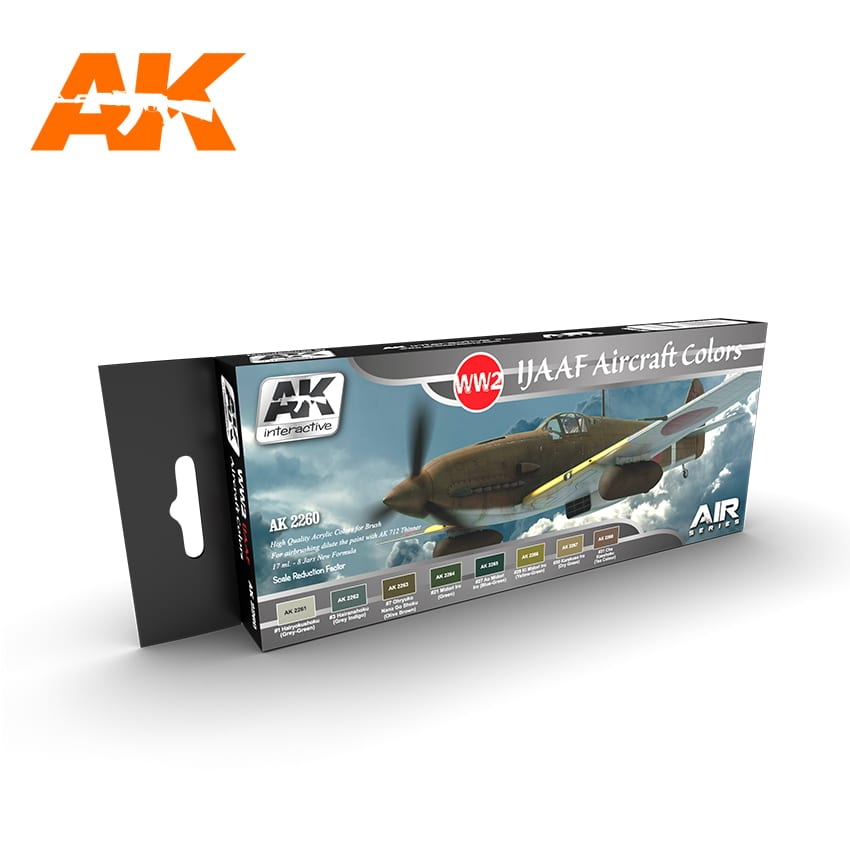 AK Interactive WW2 IJAAF Aircraft Colors Set