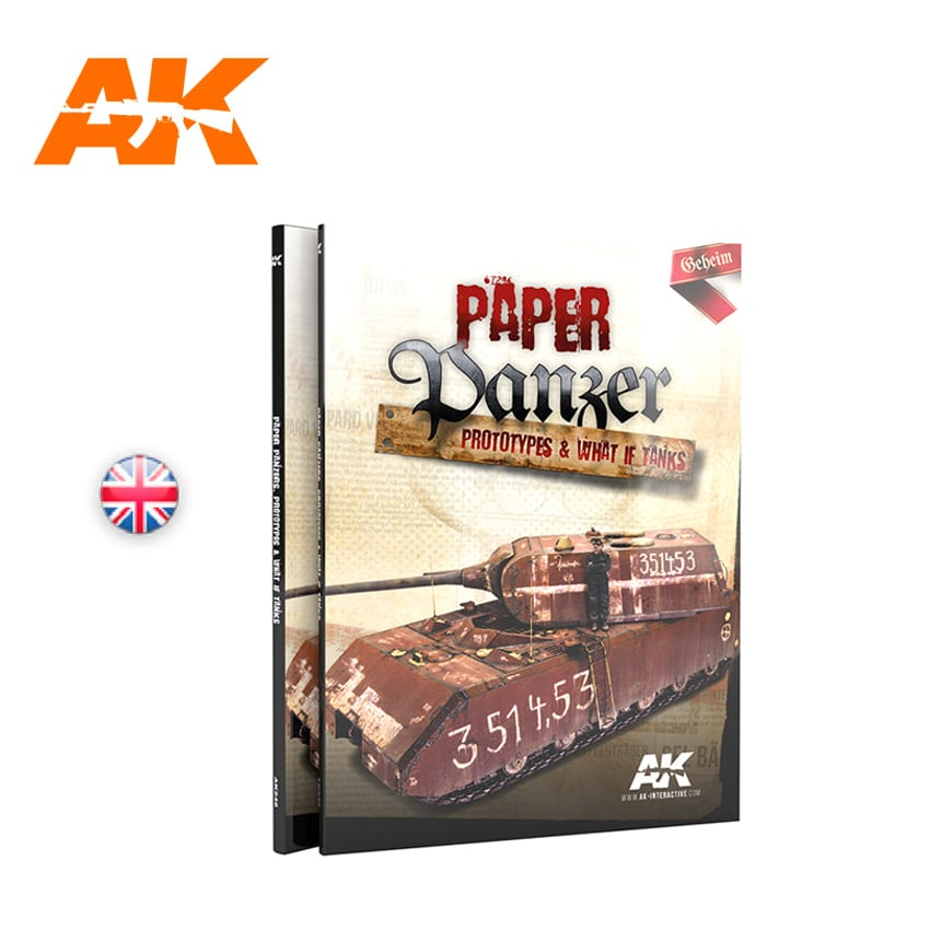 AK Interactive PAPER PANZER, PROTOTYPES & WHAT IF TANKS - English