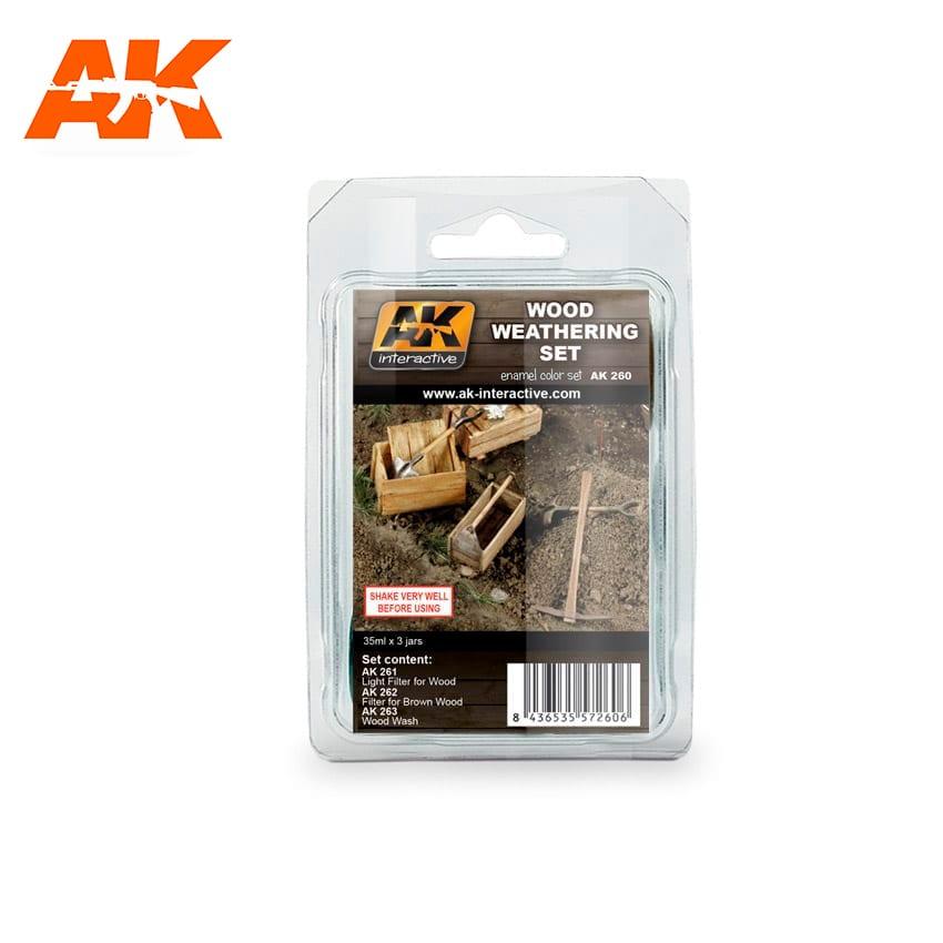AK Interactive Wood Weathering Set