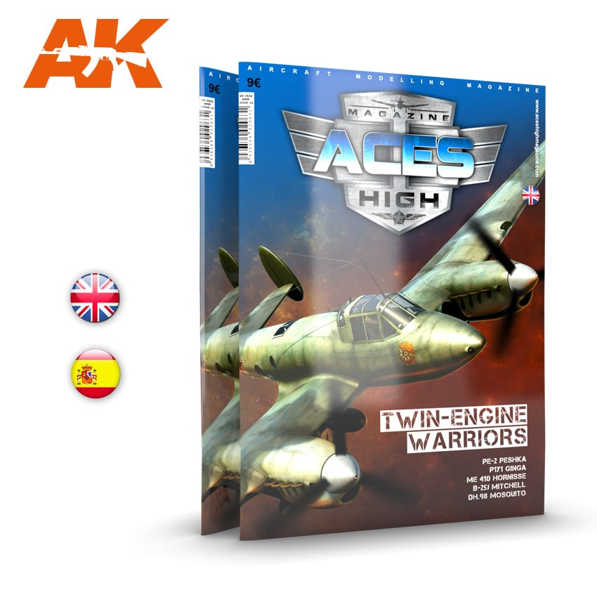 AK Interactive Issue 14. Aces High No 14. Twin-Engine Warriors - English