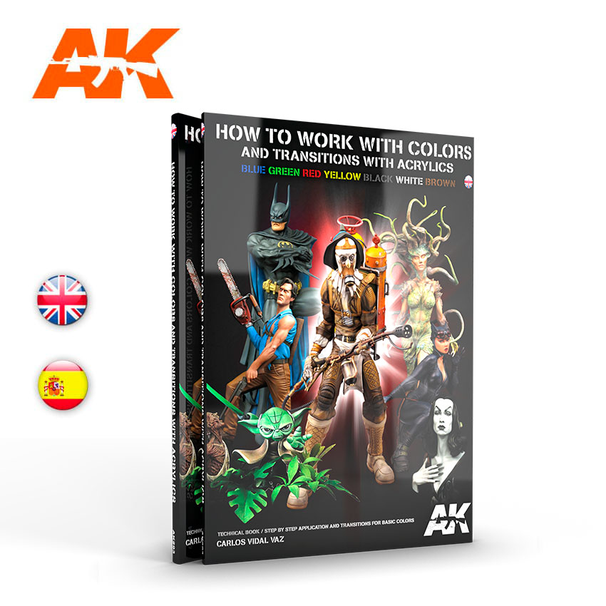 AK Interactive How To Work With Colors And Transitions With Acrylics - English