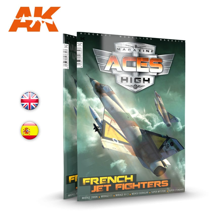 AK Interactive Aces High No 15: French Jet Fighters - English