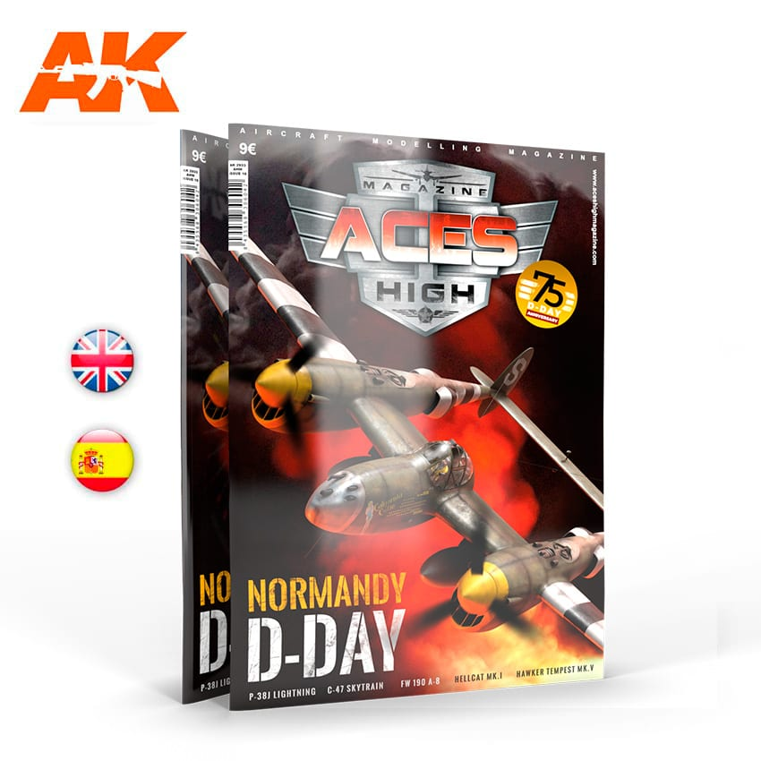 AK Interactive Aces High Magazine High No 16: Normandy D-DAY - English