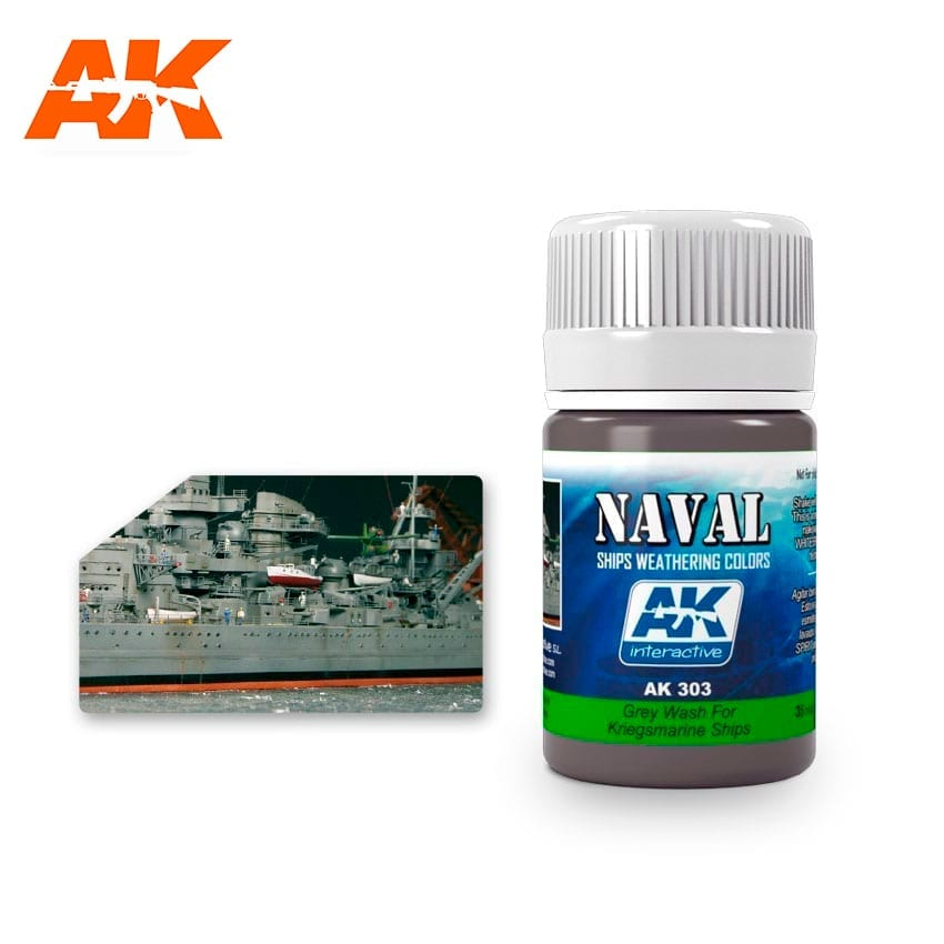 AK Interactive Grey Wash For Kriegsmarine Ships