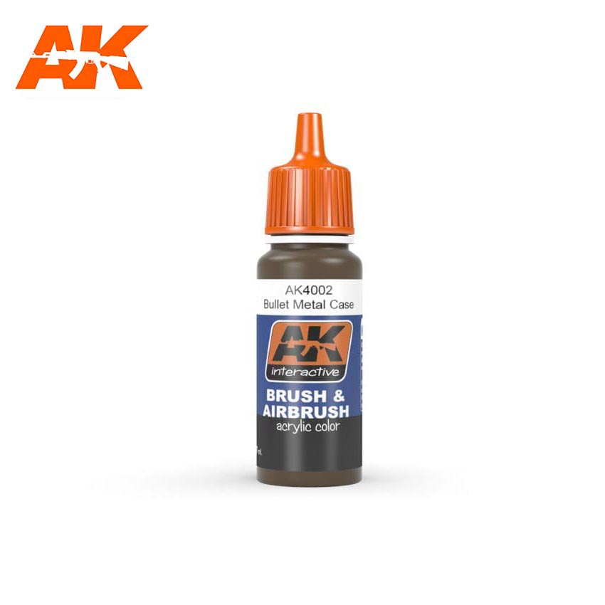 AK Interactive Bullet Metal Case 17ml