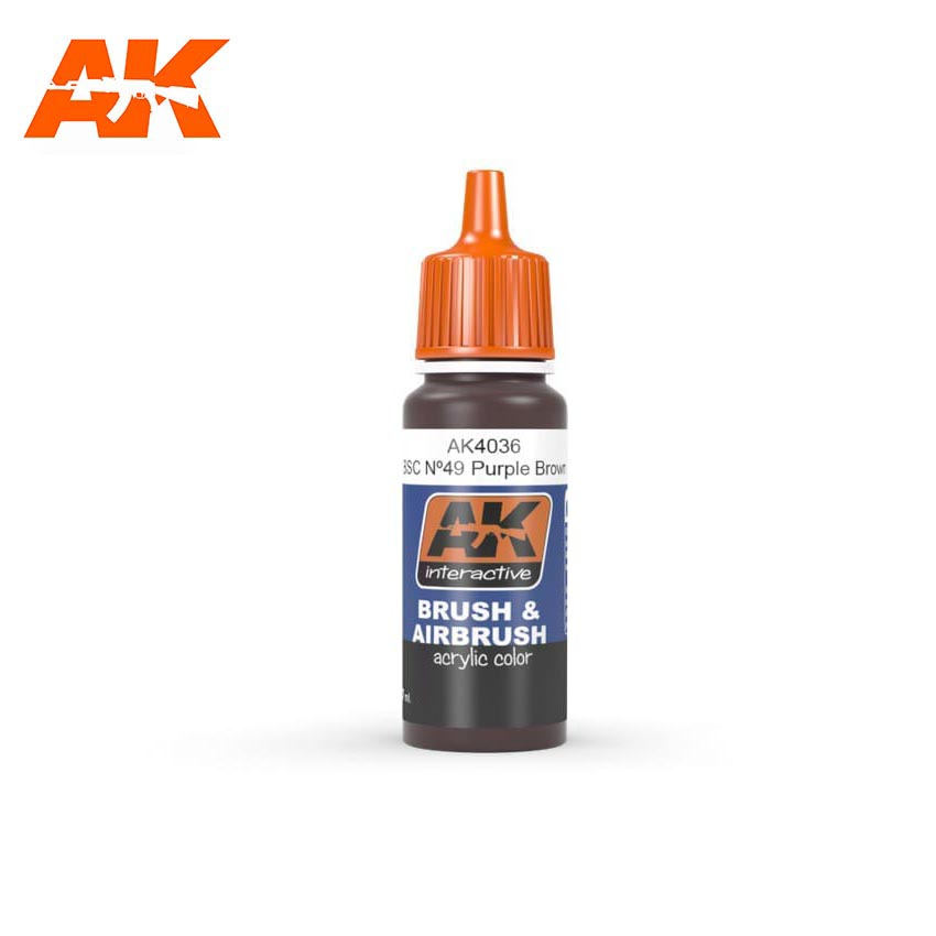 AK Interactive BSC. No49 Purple Brown 17ml