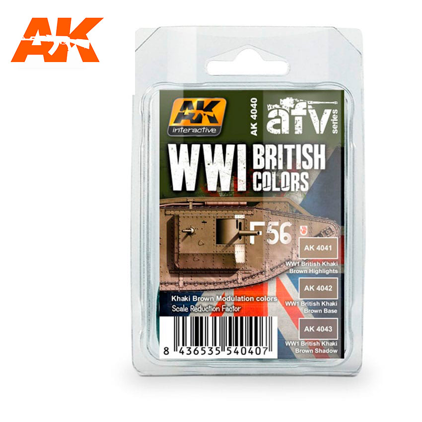 AK Interactive Wwi British Colors (Khaki Brown Modulation Set)