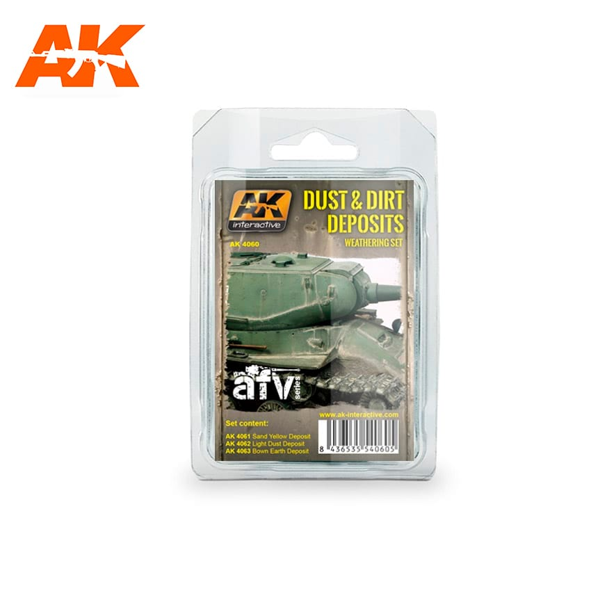 AK Interactive Dust And Dirt Deposits Weathering Set