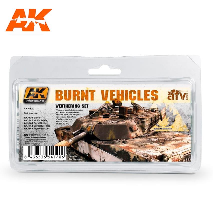 AK Interactive Burnt Vehicles Set