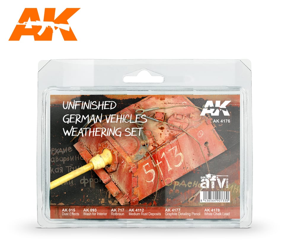AK Interactive Unfinished German Vehicles Weathering Set