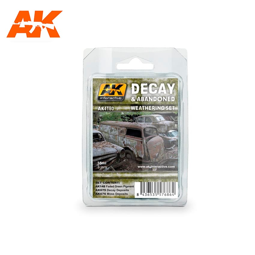 AK Interactive Decay & Abandoned Weathering Set