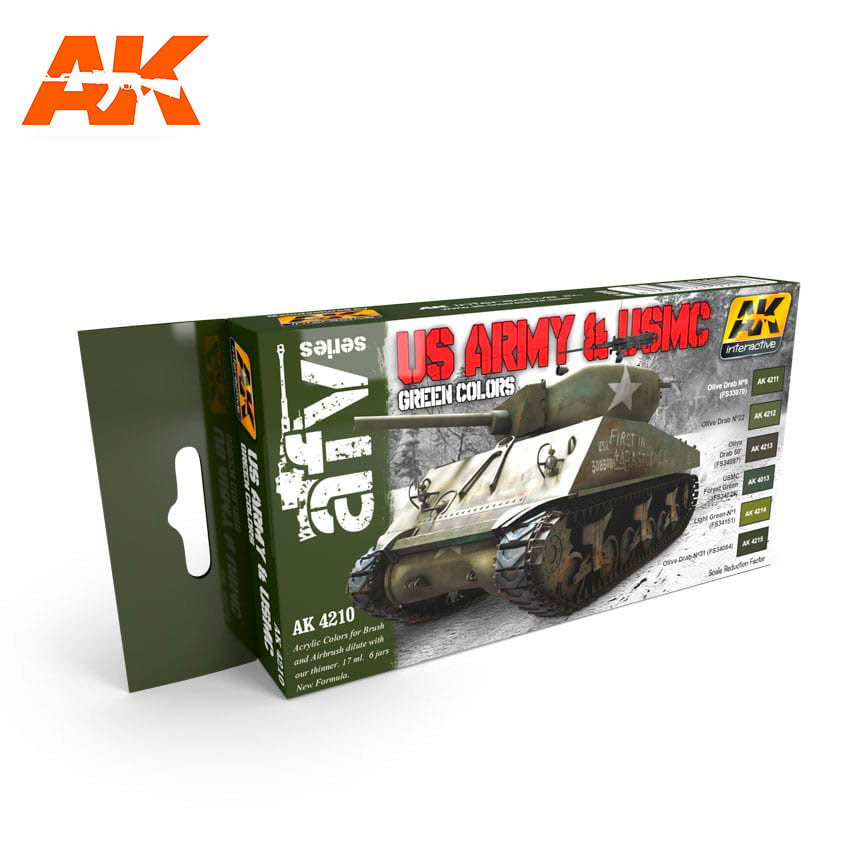 AK Interactive US Army & USMC Green Colors