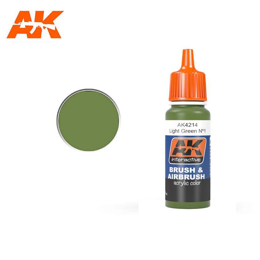 AK Interactive Light Green No1 (FS34151)