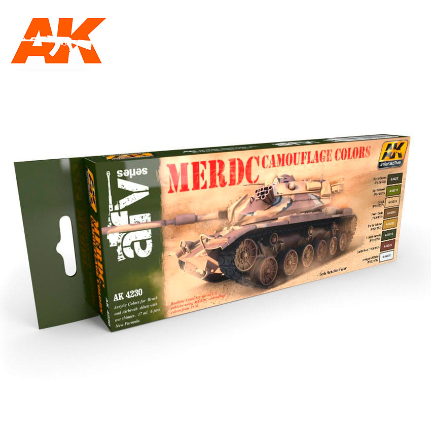 AK Interactive MERDC Camouflage Colors