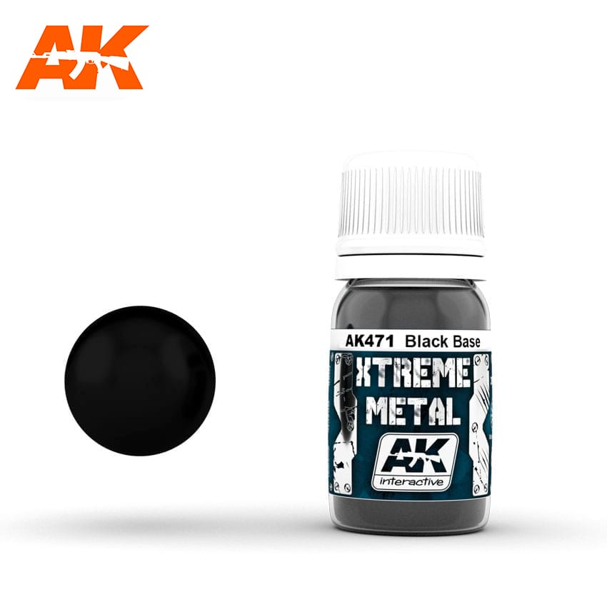 AK Interactive Xtreme Metal Black Base