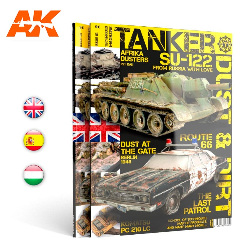 "AK Interactive TANKER 03 ""DUST & RUST"" - English"