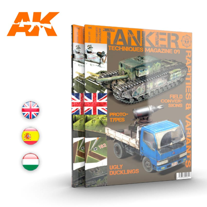 "AK Interactive AK 4835 TANKER 09 ""RARITIES & VARIANTS"" - English"