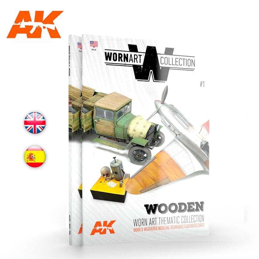 AK Interactive Worn Art Collection 01 - Wooden - English