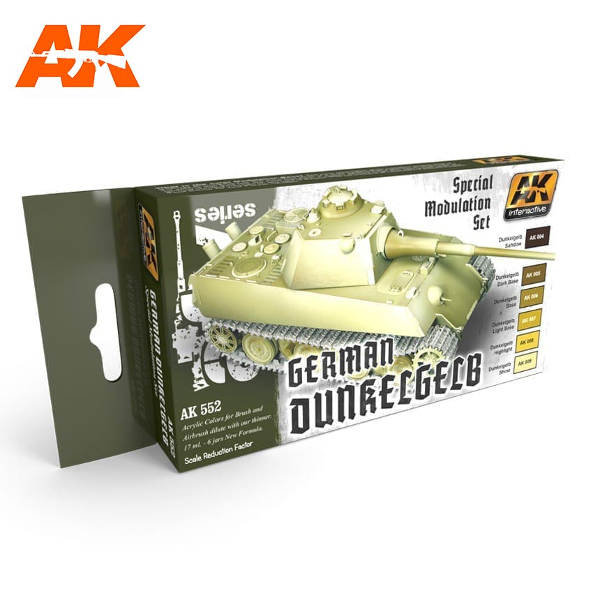 AK Interactive German Dunkelgelb Modulation Set