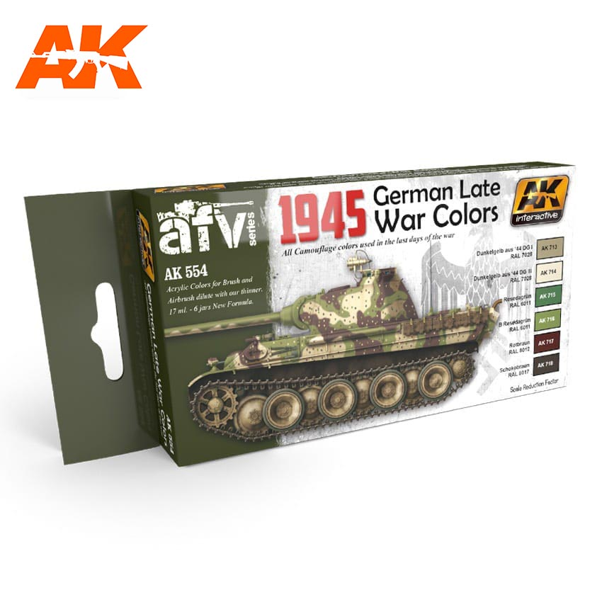 AK Interactive 1945 German Late War Colors Set