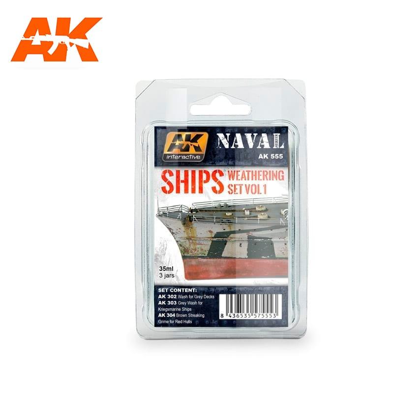 AK Interactive Ships Vol.1 Weathering Set