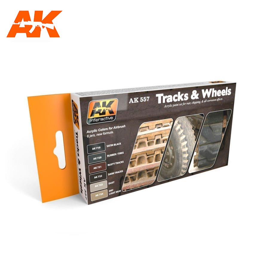 AK Interactive Track And Wheels Colors Set