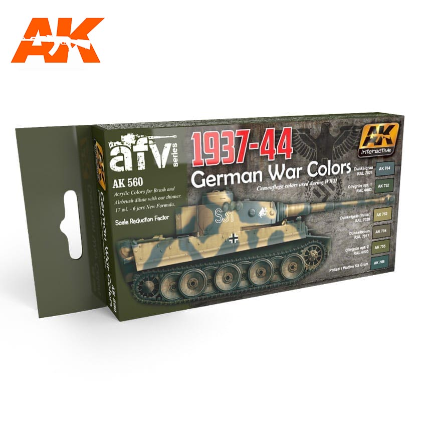 AK Interactive 1937-1944 German Colors Set