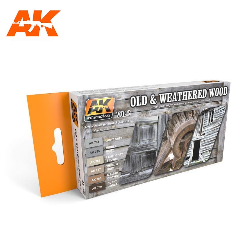 AK Interactive Old And Weathered Wood Vol.2 Colors Set