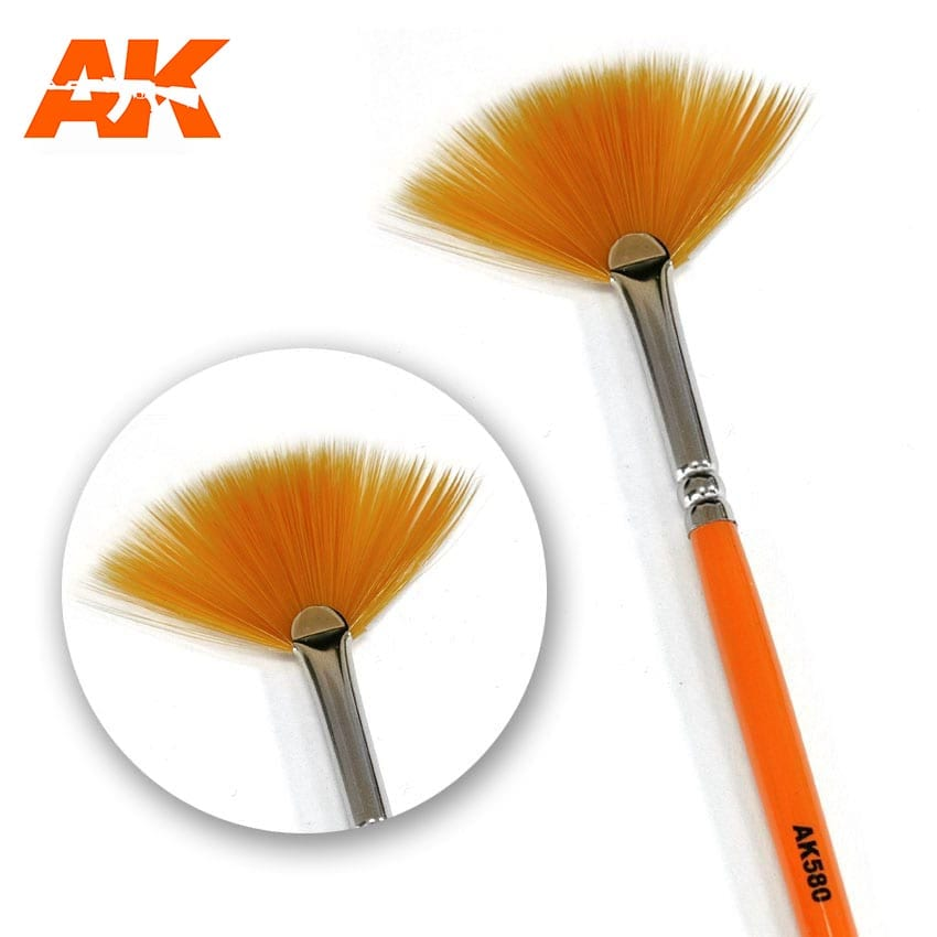 AK Interactive Weathering Brush Fan Shape