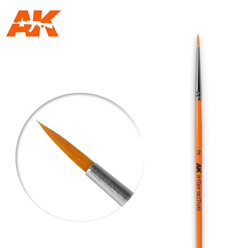 AK Interactive Round Brush 2 Synthetic