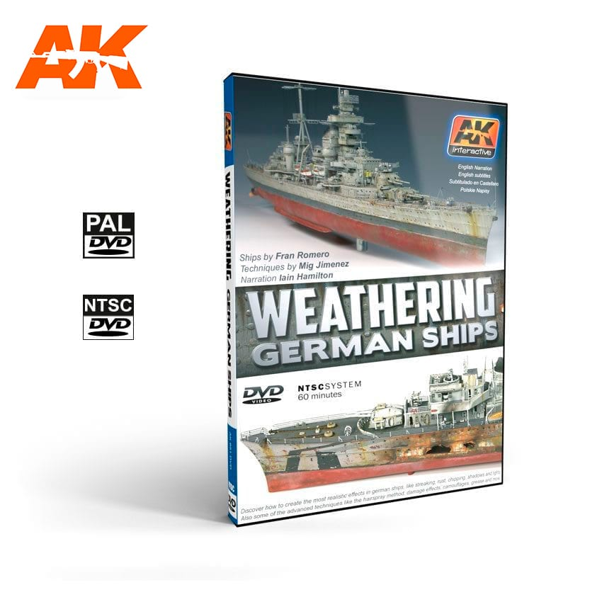 AK Interactive Weathering German Ships (DVD)