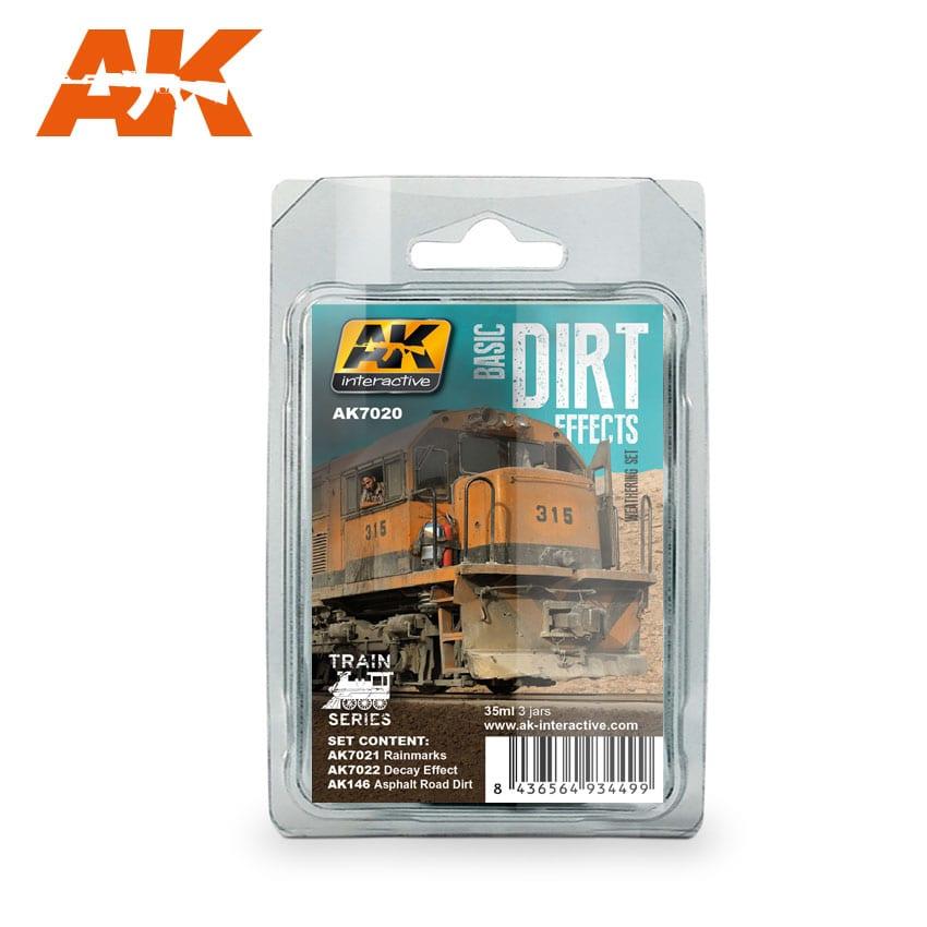 AK Interactive Basic Dirt Effects Weathering Set Train Series