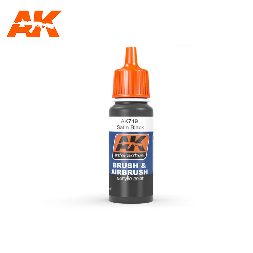 AK Interactive Satin Black 17ml