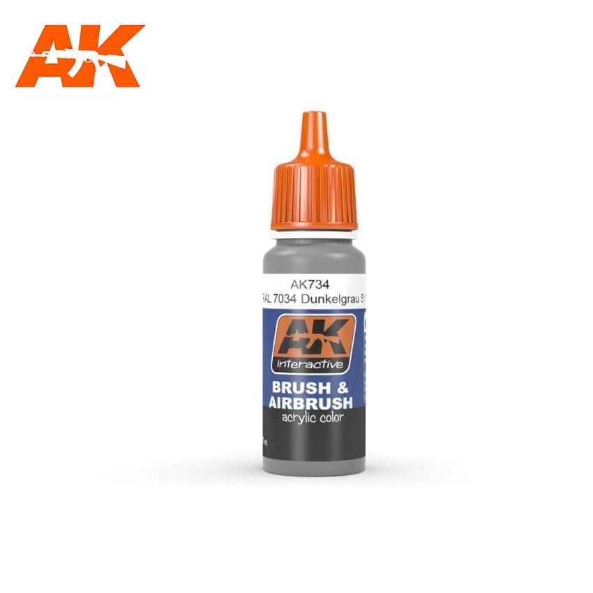 AK Interactive RAL 7037 Dunkelgrau 51-17ml