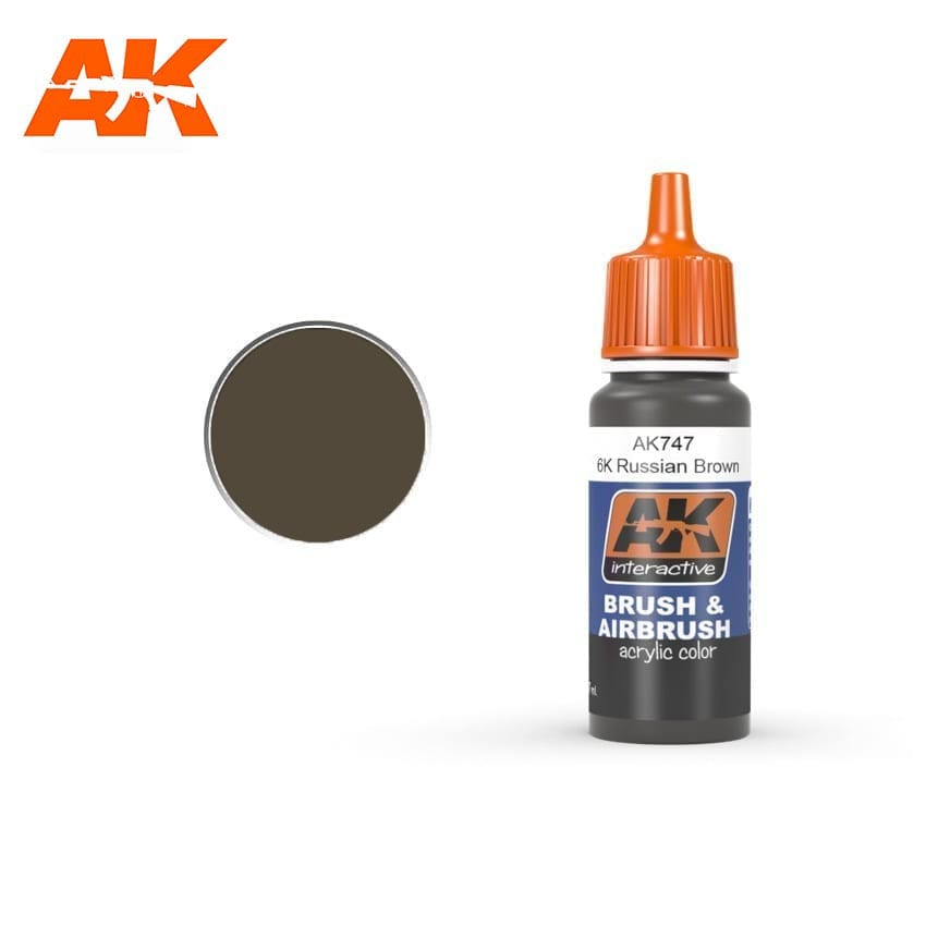 AK Interactive 6K Russian Brown 17ml