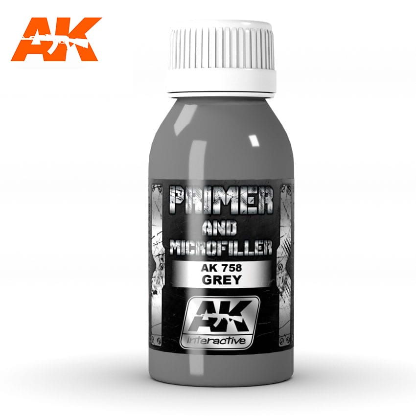 AK Interactive Grey Primer And Microfiller 100 ml