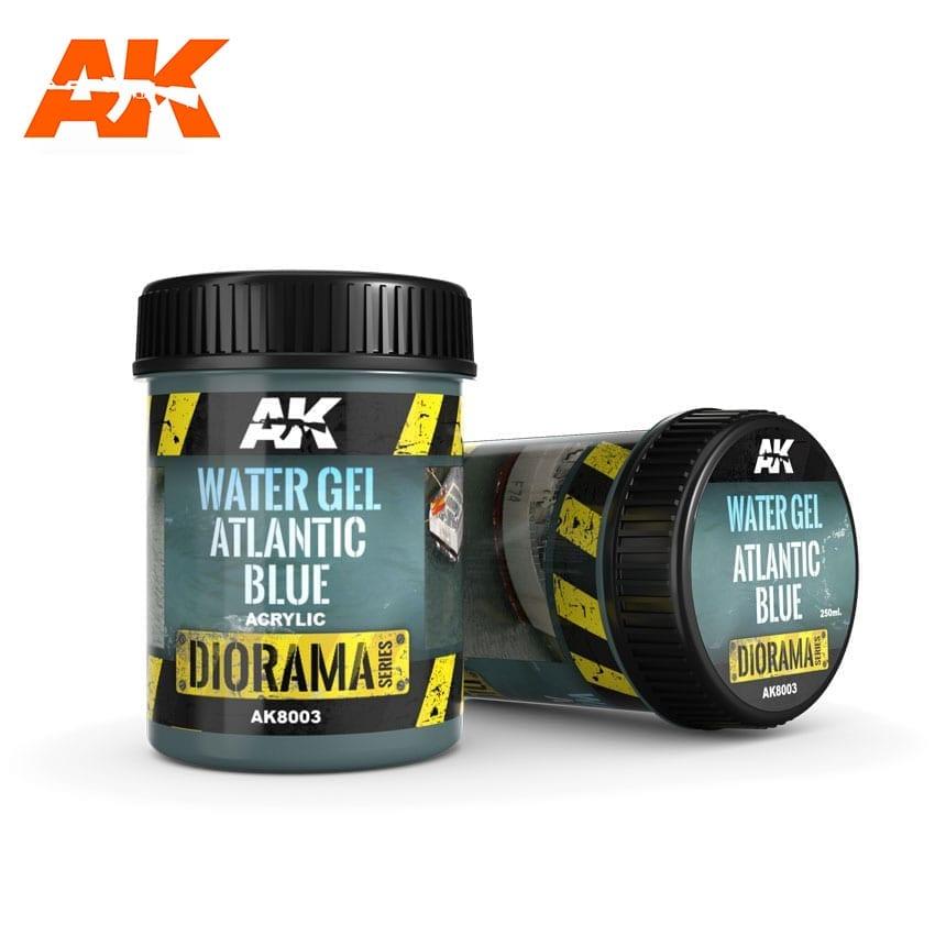 AK Interactive Water Gel Atlantic Blue - 250ml (Acrylic)