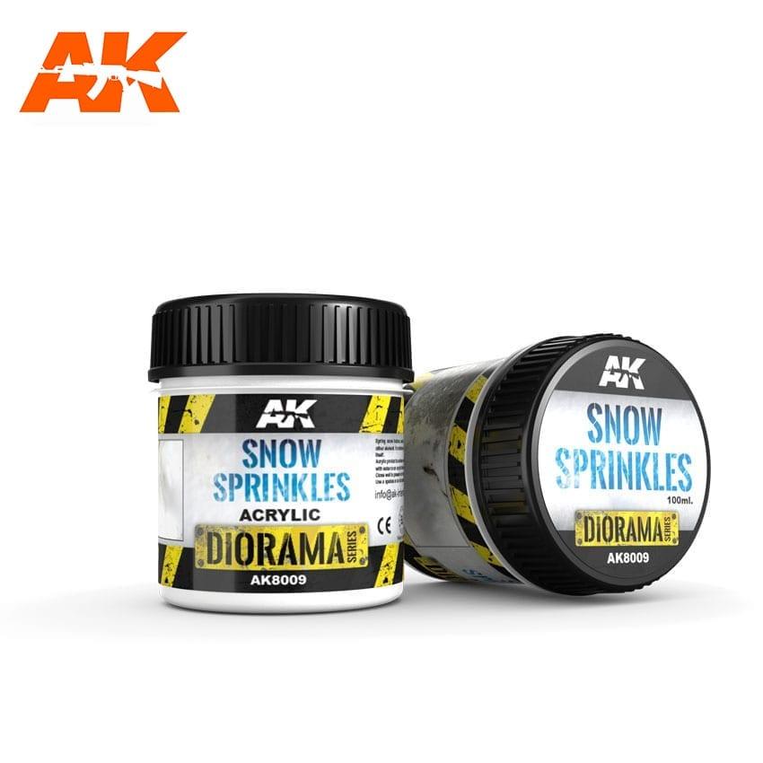 AK Interactive Snow Sprinkles - 100ml (Acrylic)
