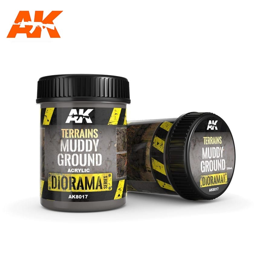 AK Interactive Terrains Muddy Ground - 250ml (Acrylic)