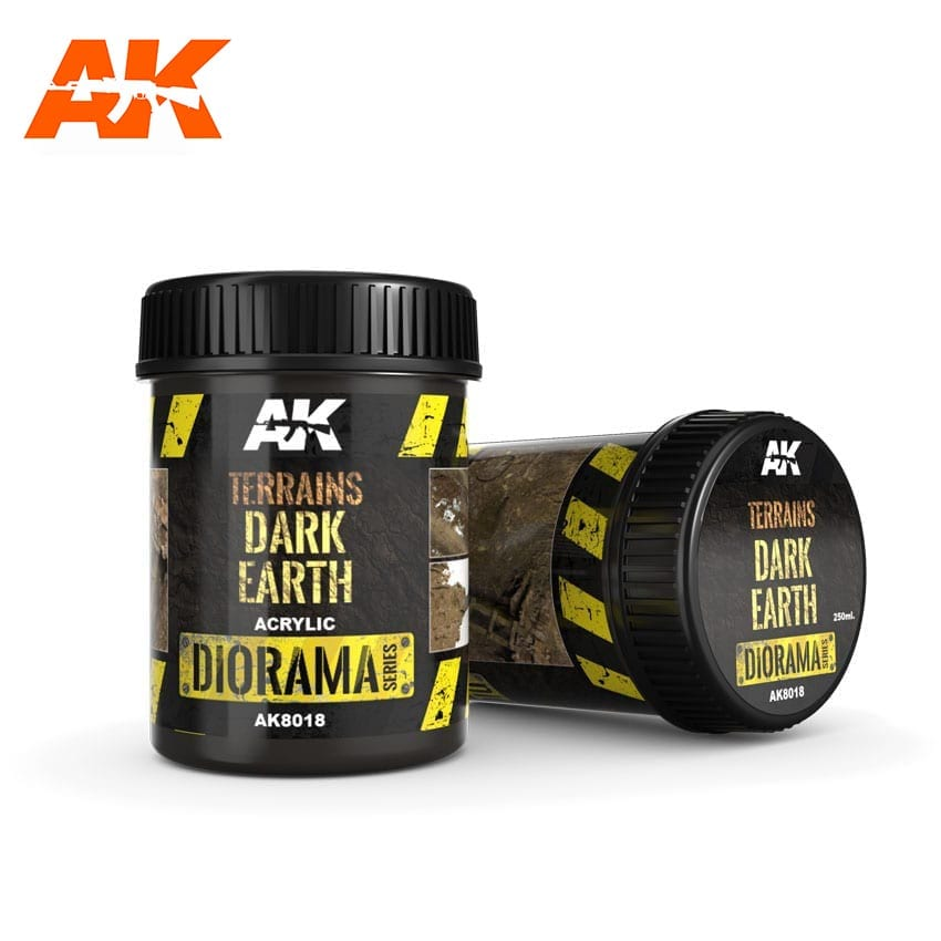 AK Interactive Terrains Dark Earth - 250ml (Acrylic)