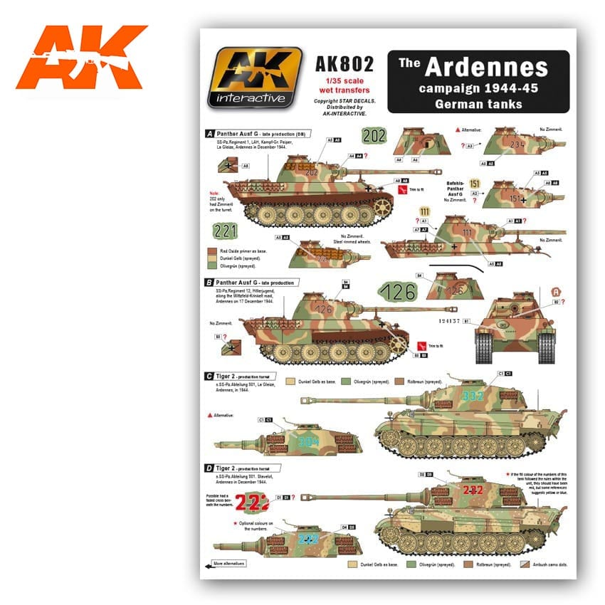 AK Interactive 1/35 The Ardennes Campaign 1944-45 German Tanks