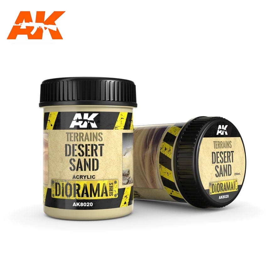 AK Interactive Terrains Desert Sand - 250ml (Acrylic)