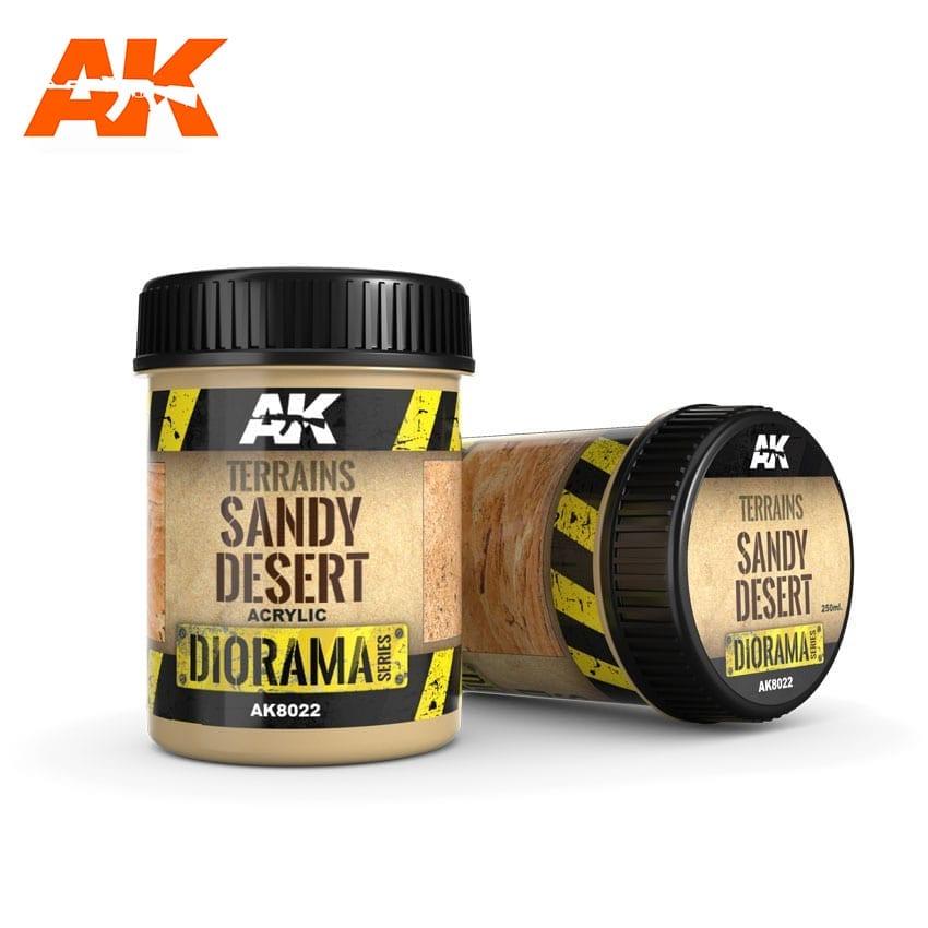 AK Interactive Terrains Sandy Desert - 250ml (Acrylic)