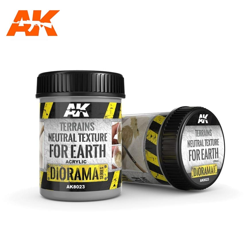 AK Interactive Terrains Neutral Texture - 250ml (Acrylic)