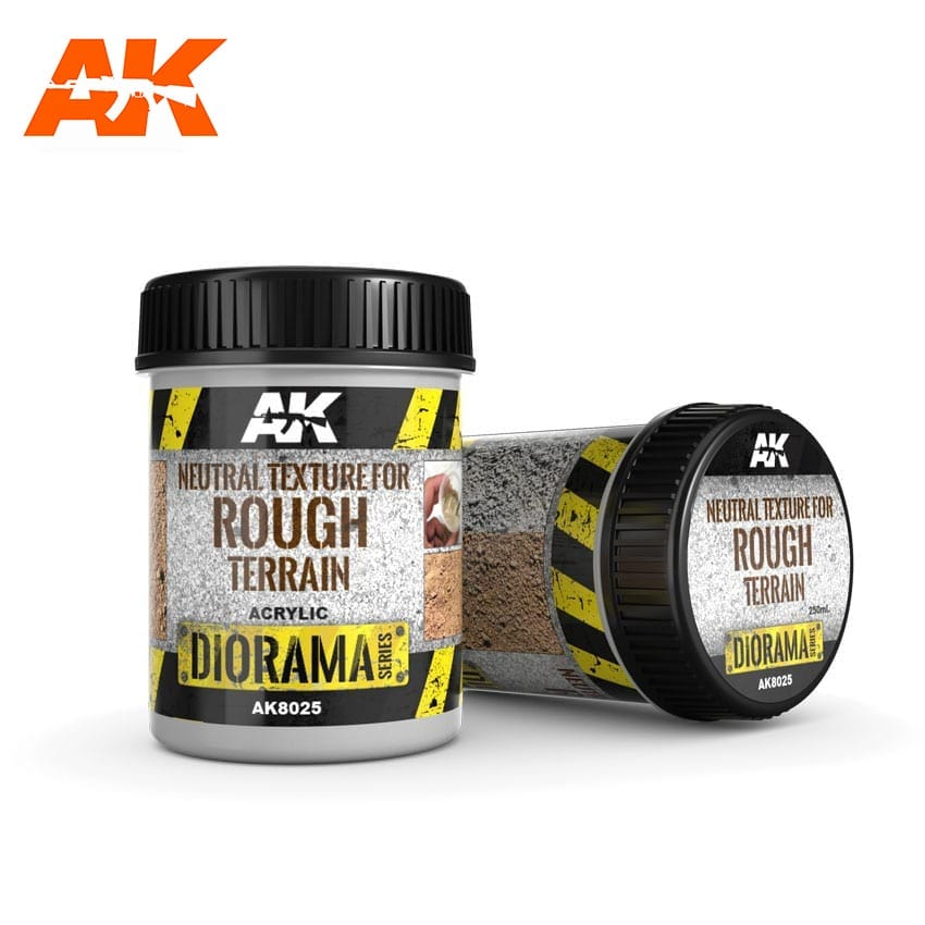 AK Interactive Neutral Texture For Rough Terrains - 250ml - Base Product (Acrylic)