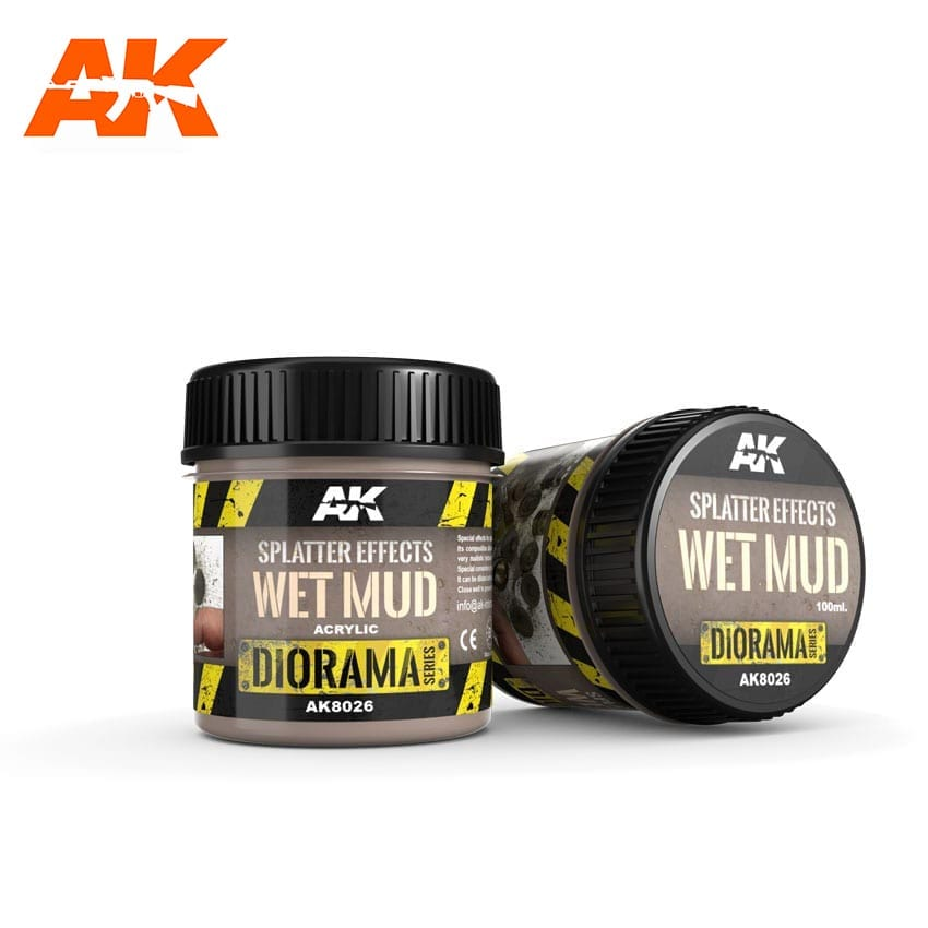 AK Interactive Splatter Effects Wet Mud - 100ml - Base Product (Acrylic)