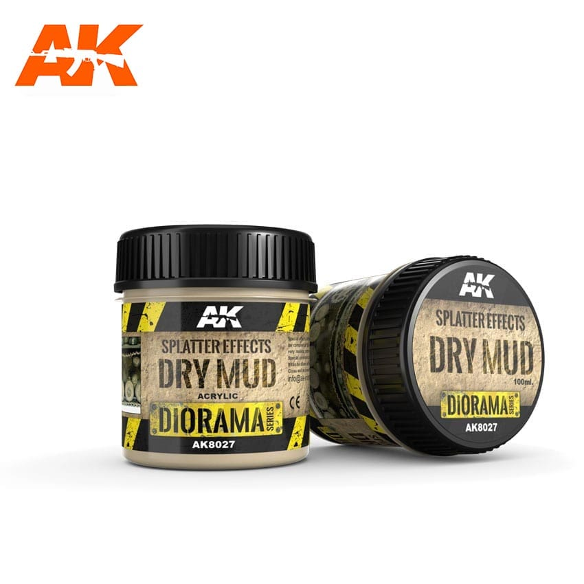 AK Interactive Splatter Effects Dry Mud - 100ml (Acrylic)