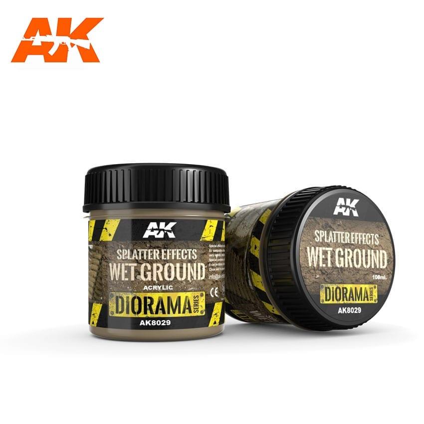 AK Interactive Splatter Effects Wet Ground - 100ml (Acrylic)