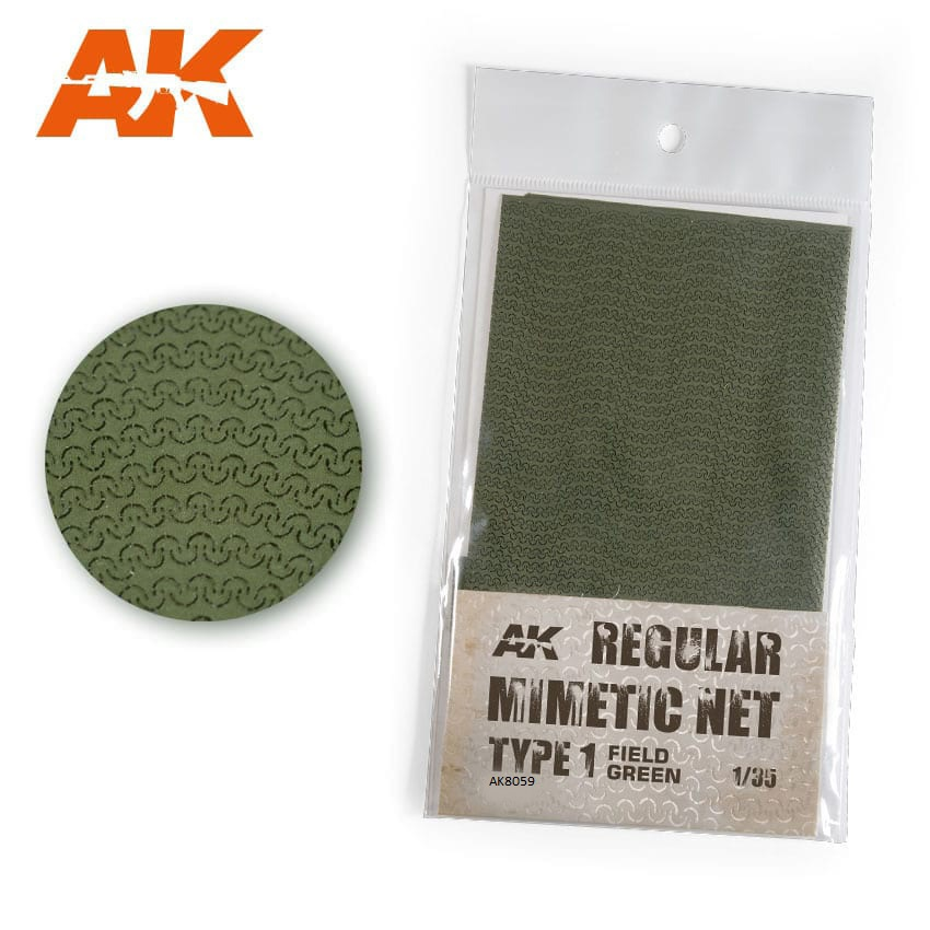 AK Interactive Regular Camouflage Net Type 1 Green