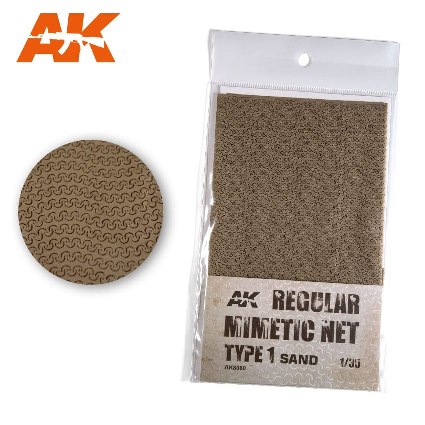 AK Interactive Regular Camouflage Net Type 1 Sand